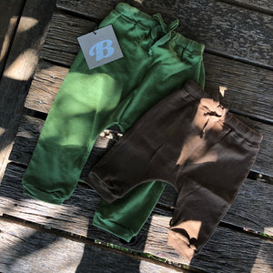 Moab Trackies - Chocolate and Green