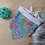 Retro Geometric Dog Bandana - Sparkle Stars
