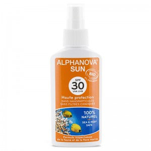Spray haute protection solaire bio  30 + Alphanova