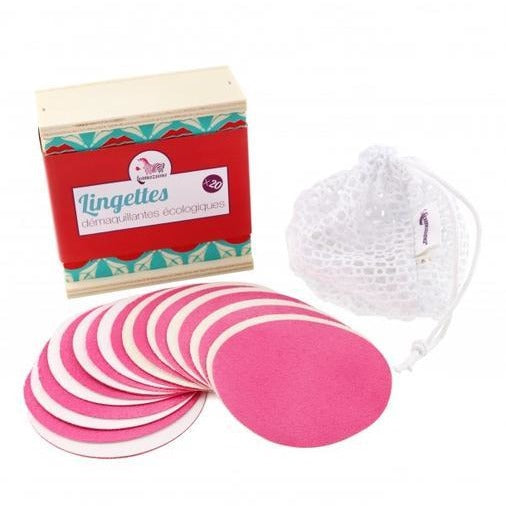 Coffret 10 x lingettes démaquillantes lavables Made in France