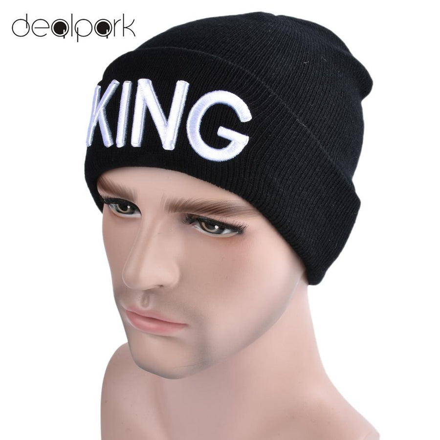 638d17e3ea2 Knitted Hat Cap Men Women Knitted Beanies Hat Letter Embroidery Dome Autumn  Winter Cap Warm Hat