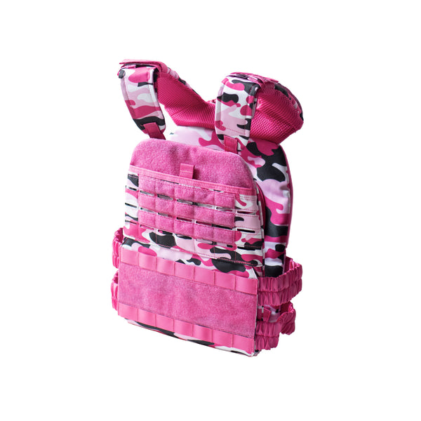 Weighted Vest Camo Pink