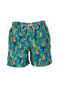 Guacamayas Blue Swim Trunks