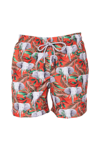 Elephunk Face Coral Swim Trunks Kids & Babys