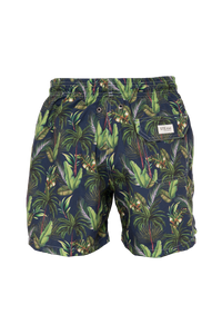 Green Forest Blue Swim Trunks
