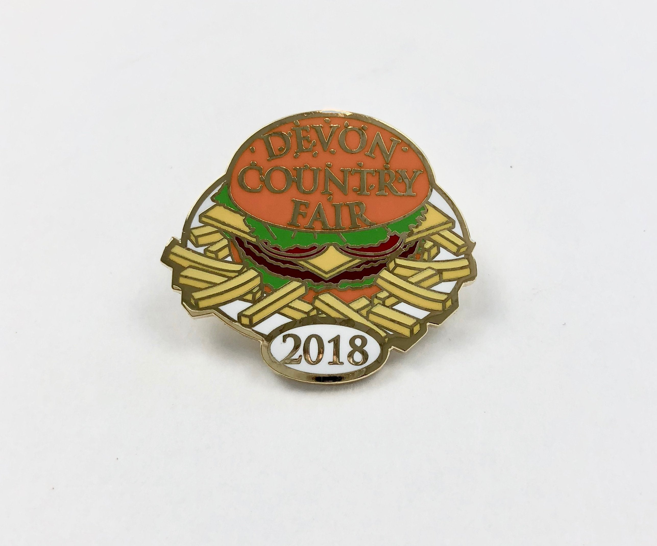 2018 Country Fair Hamburger Lapel Pin