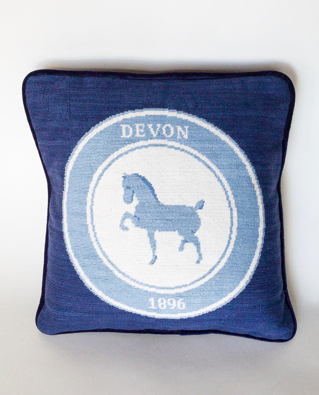 Needlepoint Logo Pillow