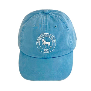 Classic Twill Baseball Cap- Light Blue with White Logo
