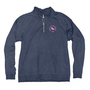 Blue 84 Ladies 1/4 Zip- Heather Blue