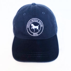 Twill Baseball Cap - Navy with White Logo