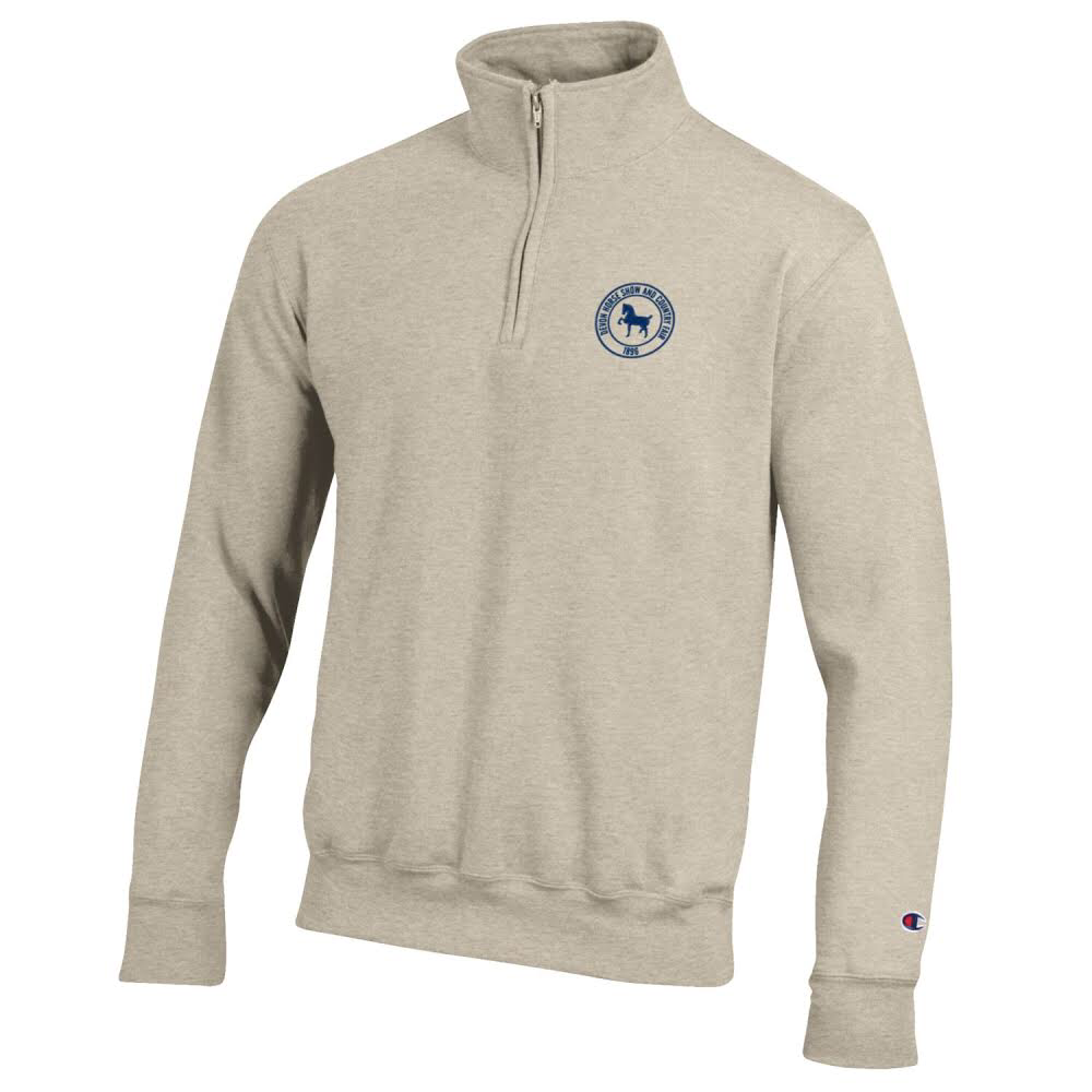 Champion 1/4 zip Sweatshirt- Oatmeal