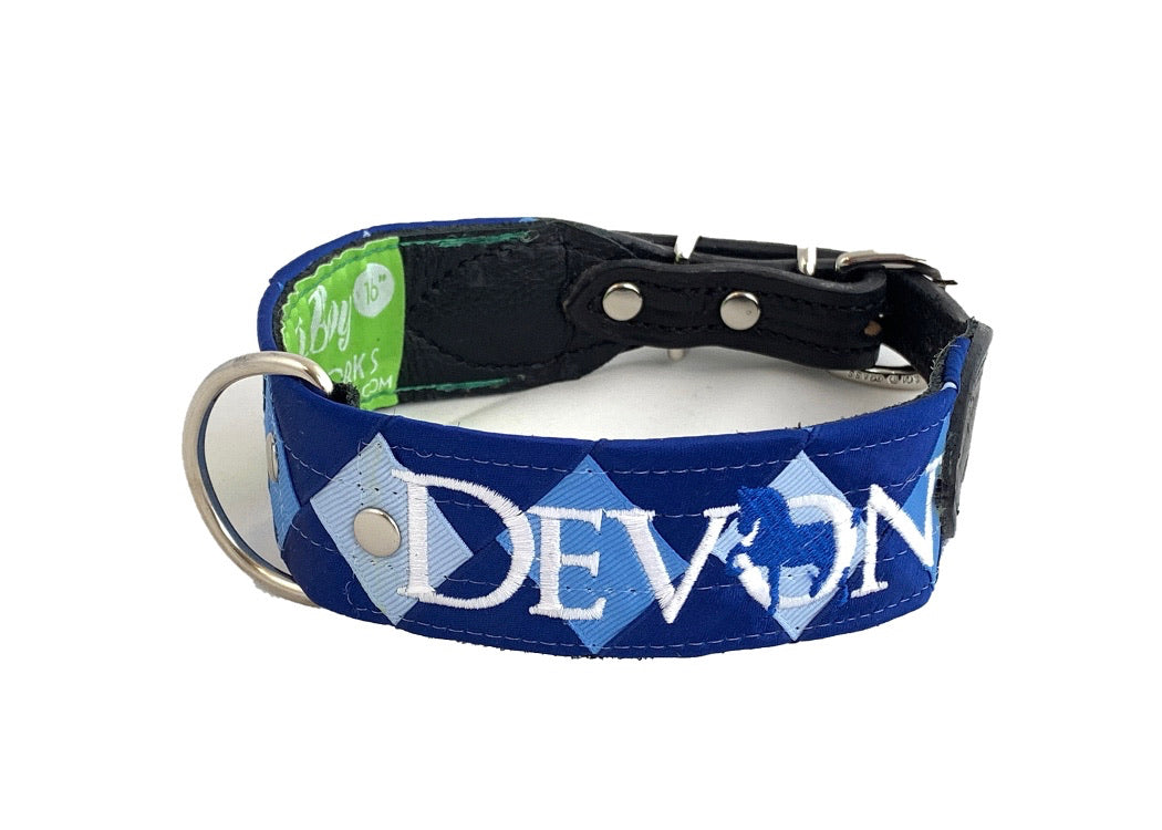Boy O' Boy Woven Ribbon Dog Collar
