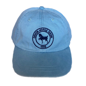 Twill Baseball Cap- Light Blue with Navy Logo