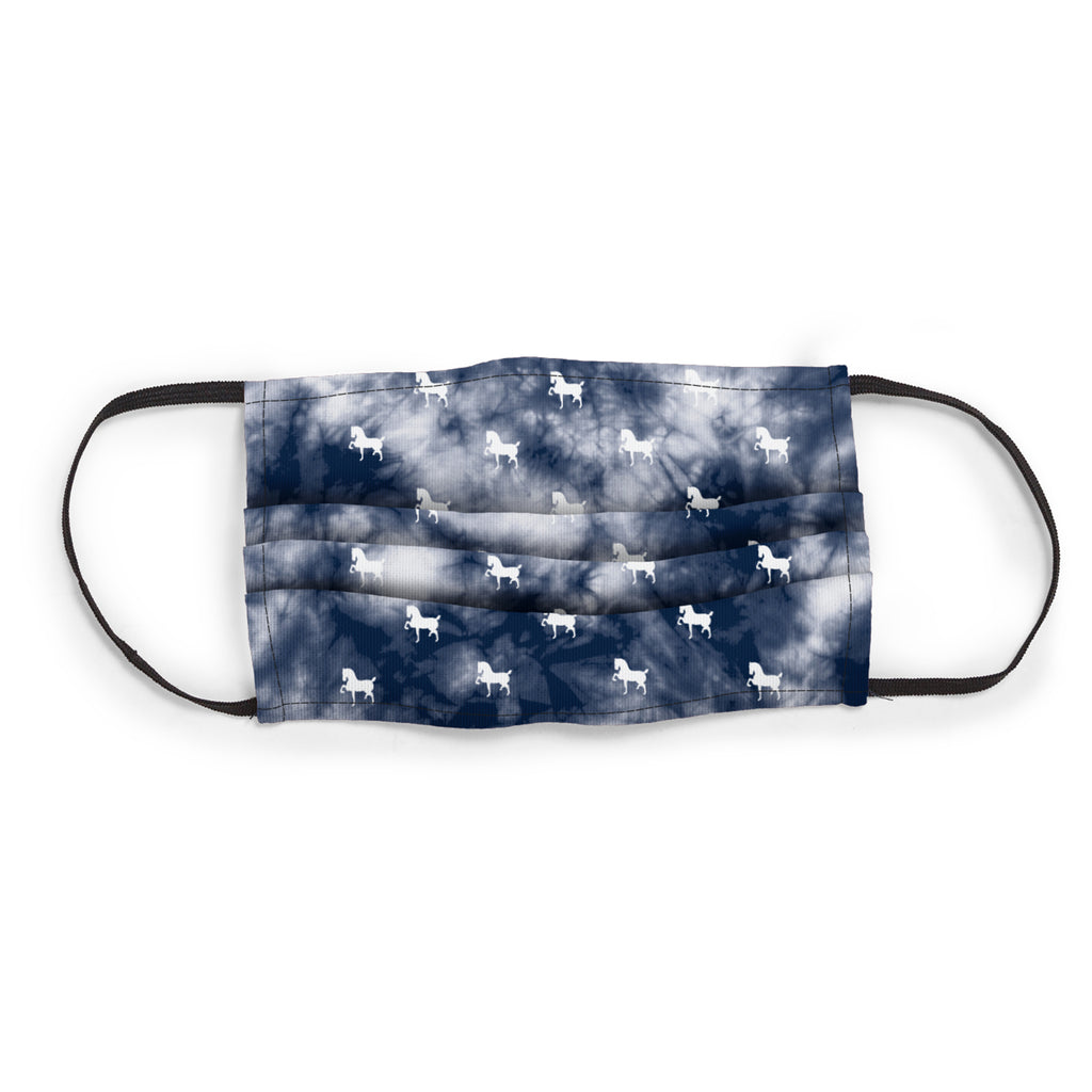 Devon 3 Layer Face Mask -Navy Tye Dye