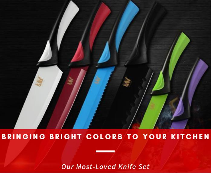 Bringing Bright Colors to Your Kitchen: Our Most-Loved Knife Set