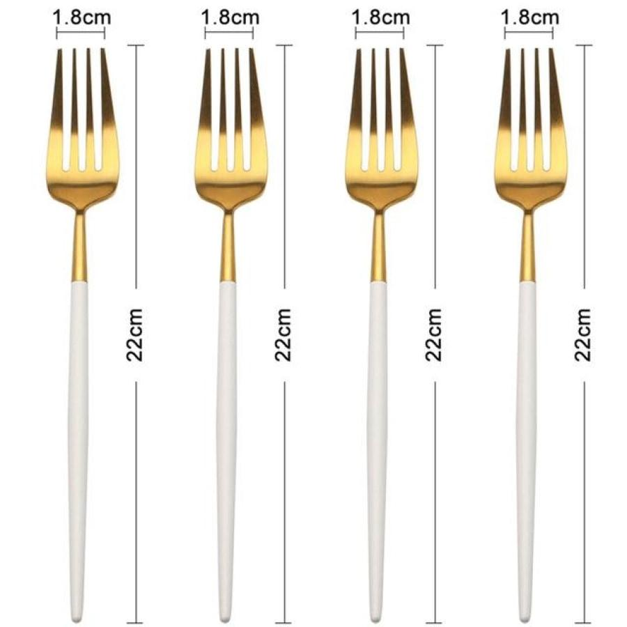 4-Piece Sets of High-Quality Forks - Assorted Colors for Every Event-Kioro Knives
