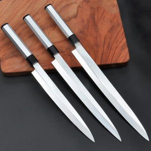 Damascus Stainless Steel Sushi Knife - Extra Long and Thin Blades for Fine Cuts-Kioro Knives
