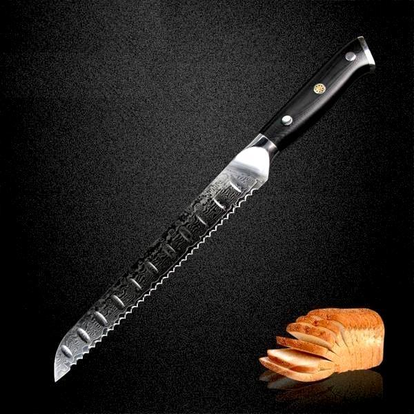 Japanese Serrated Bread Knife - Perfect Sandwich Slices from Large Bread Loaves-Kioro Knives