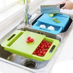 Sink Drain Cutting Board Gadget - Brilliantly Designed for Over-Sink Slicing and Rinsing-Kioro Knives