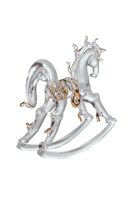 Rocking Horse with Gold Trim