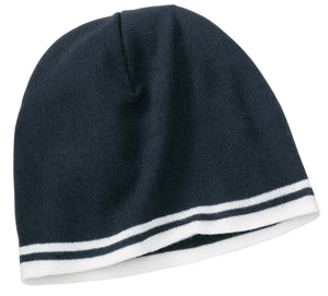 Port & Company® Fine Knit Skull Cap with Stripes.   CP93