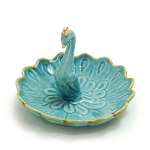 Peacock Ring Dish by Crystal Castle®
