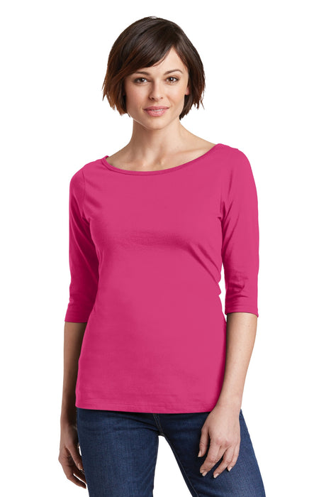 District® Women's Perfect Weight® 3/4-Sleeve Tee. DM107L