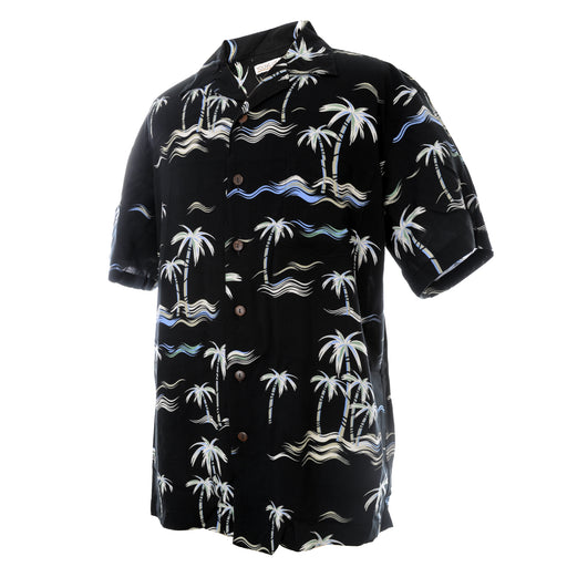 Men's Hawaiian Shirt - Vintage Palm Trees and Waves