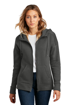District ® Women's Perfect Weight ® Fleece Drop Shoulder Full-Zip Hoodie DT1104