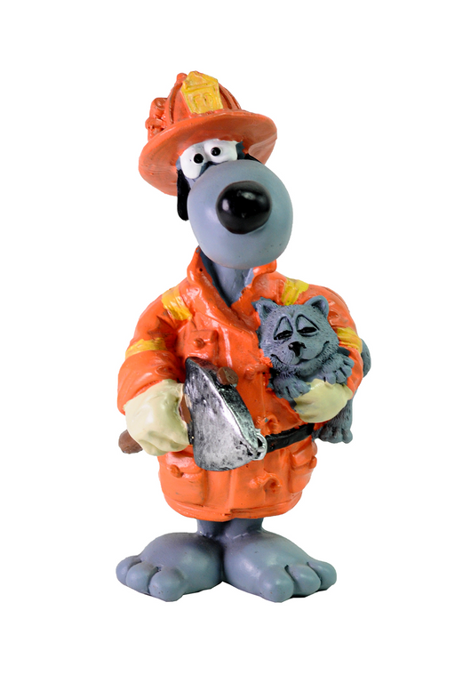 Fireman Dog Figurine by Crystal Castle®