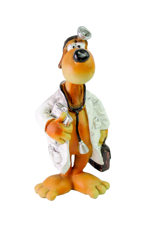 Doctor Dog Figurine by Crystal Castle®