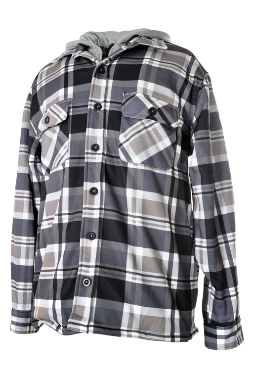 YOUNG USA® - Men's Hooded Flannel Shirt Jacket