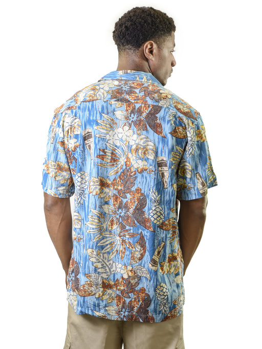 Men's Hawaiian Shirt, Pineapple Beer Bottle