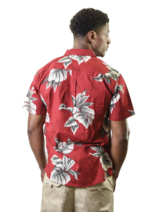 Men's Vintage Hawaiian Shirt, Tree Leaves
