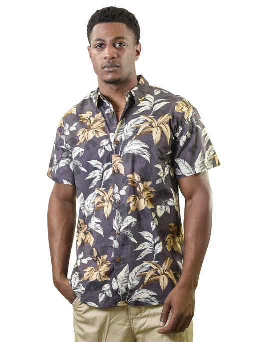Men's Hawaiian Shirt, Pineapple Leaves