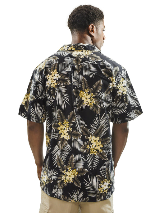 Men's Hawaiian Vintage Shirt, Palm Leaves