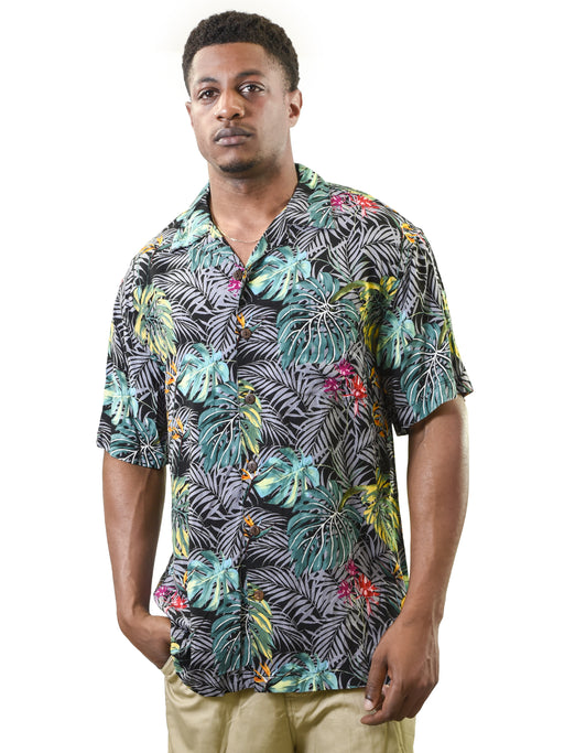 Men's Vintage Hawaiian Shirt, Tropical
