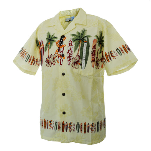 Men's Vintage Hawaiian Shirt, Surfboards
