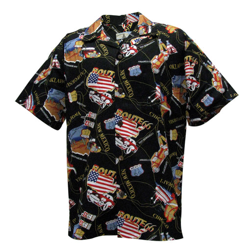 Men's Vintage Hawaiian Shirt, Route 66