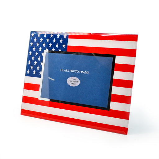 American Flag Photo Frame by Crystal Castle