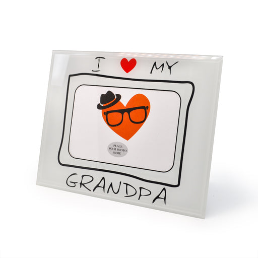Love Grandpa Photo Frame by Crystal Castle
