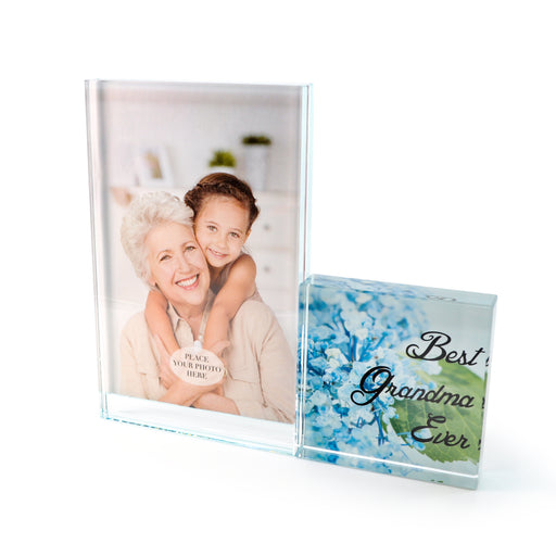 """Best Grandma"" Glass Photo Frame by Crystal Castle"