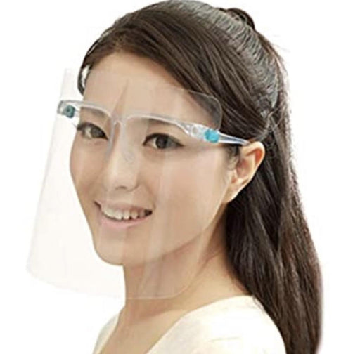 Protective Full-Face Shield with Glasses