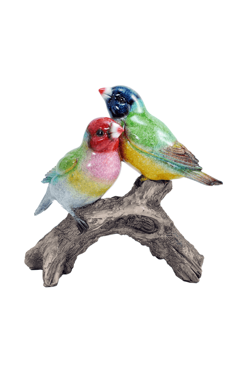 Two Sparrows on Branch Figurine by Crystal Castle®