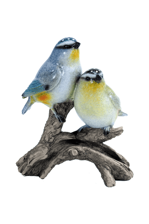 Two Small Birds on Branch Figurine by Crystal Castle®