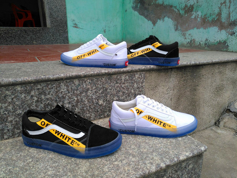 17a8ad2f1abdc2 VANS CE Y62 Vans Old Skool X Off White Classic Men And Womens Sneakers  Canvas