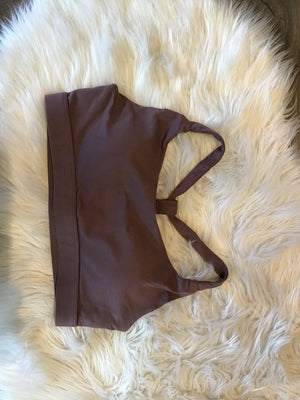 Crisscross sports bra-mauve