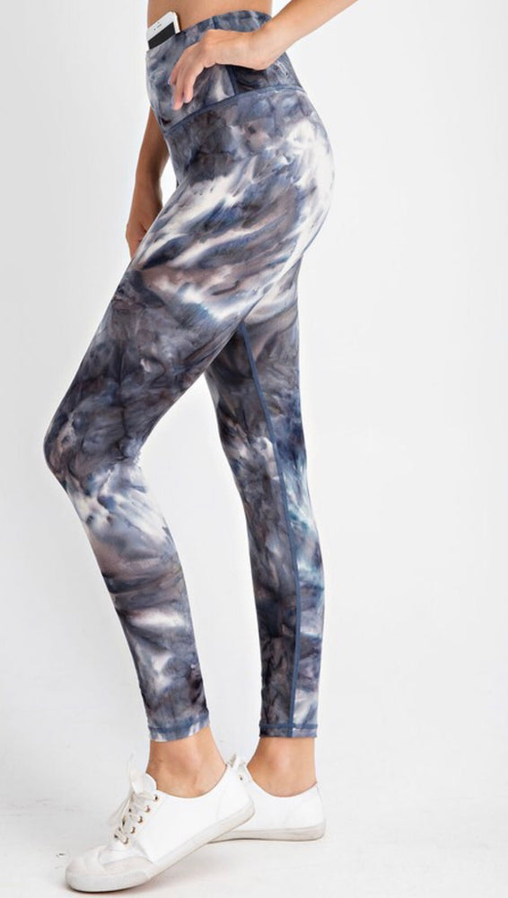 Butter Soft Marbled Leggings - black