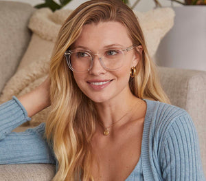 Weston- clear crystal  blue light glasses