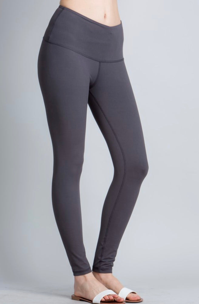 Butter soft leggings-charcoal